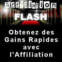 Affiliation Flash : des revenus avec l\'affiliation